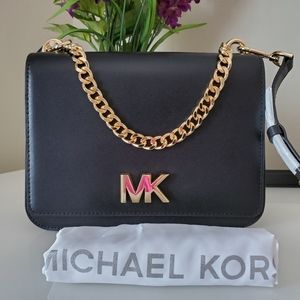 Michael Kors Mott Chain Leather Shoulder Bag